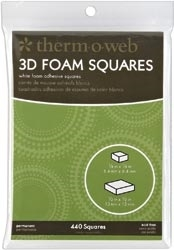 Therm O Web 3D MOUNTING SQUARES White Foam 3777 Preview Image
