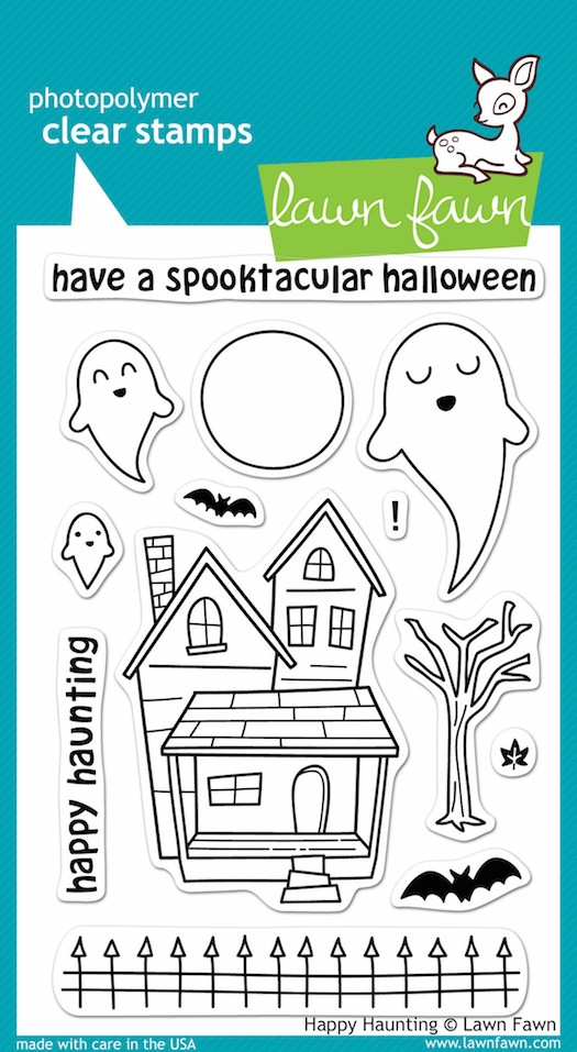 Lawn Fawn HAPPY HAUNTING Clear Stamps zoom image