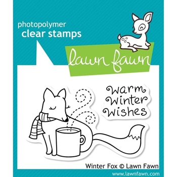Lawn Fawn WINTER FOX Clear Stamps