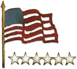 Tim Holtz Sizzix OLD GLORY Die Bigz 657483 Preview Image