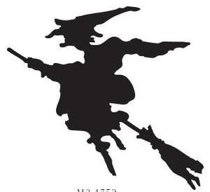 Tim Holtz Rubber Stamp WITCH SILHOUETTE M2-1752 zoom image