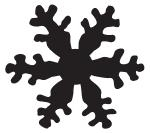 Tim Holtz Rubber Stamp SNOWFLAKE SILHOUETTE G1-1759 Preview Image