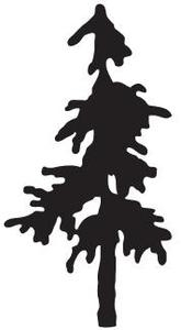 Tim Holtz Rubber Stamp TREE SILHOUETTE  K3-1761 Preview Image