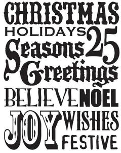 Tim Holtz Rubber Stamp CHRISTMAS WORDS Stampers Anonymous X1-1763 Preview Image