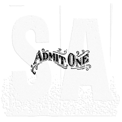 Tim Holtz Rubber Stamp LITTLE ADMIT Stampers Anonymous D7-1777 Preview Image