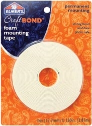 Elmer's CRAFT BOND Foam Mounting Tape Permanent Adhesive E4025
