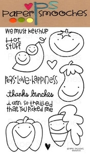 Paper Smooches VEGTASTIC Clear Stamps Kim Hughes Preview Image
