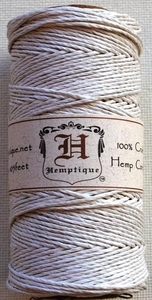 Hemptique WHITE Hemp Cord Twine 029287