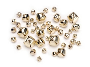 Darice GOLD 43 ASSORTED SIZES JINGLE BELLS Charms 1090-61 Preview Image