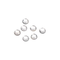 Darice 8mm 120Ct Rhinestones Round CRYSTAL Clear White 1811-33 Preview Image