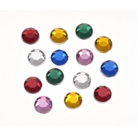 Darice 8mm 120Ct Rhinestones MULTI Assorted Colors Round 1811-34 Preview Image