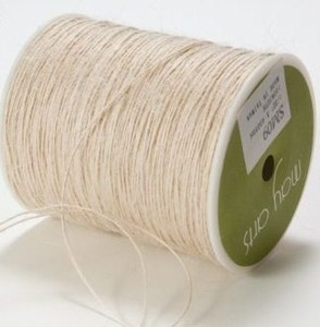 May Arts IVORY Twine String Burlap