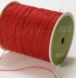 May Arts RED Twine String Burlap