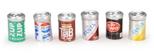 Darice SOFT DRINK CANS Timeless Minis 6 Assorted 2306-19 Preview Image