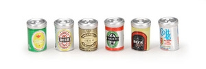 Darice BEER CANS Timeless Minis 6 Assorted 2306-20*