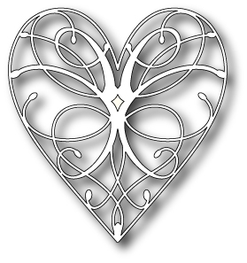 Memory Box LA RUE HEART Craft Die 98255 Preview Image