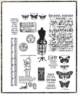 Tim Holtz Cling Rubber Stamps ATTIC TREASURES CMS123 *