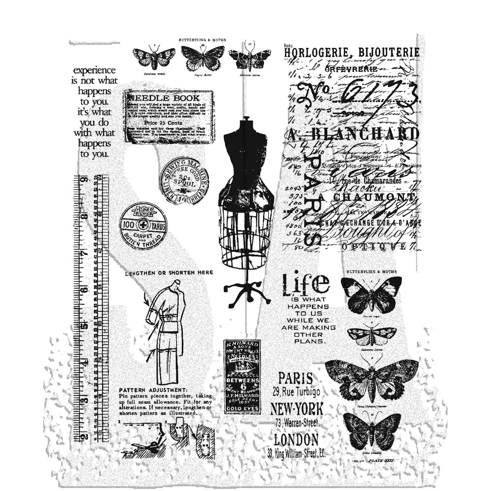Tim Holtz Cling Rubber Stamps ATTIC TREASURES CMS123 zoom image