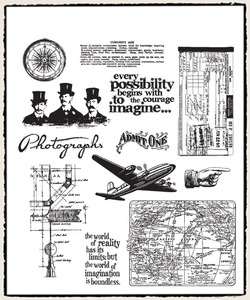 Tim Holtz Cling Rubber Stamps WAREHOUSE DISTRICT CMS124 Preview Image