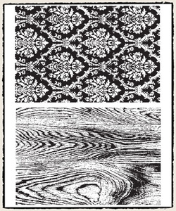 Tim Holtz Cling Rubber Stamps WALLPAPER and WOOD cms126 Preview Image