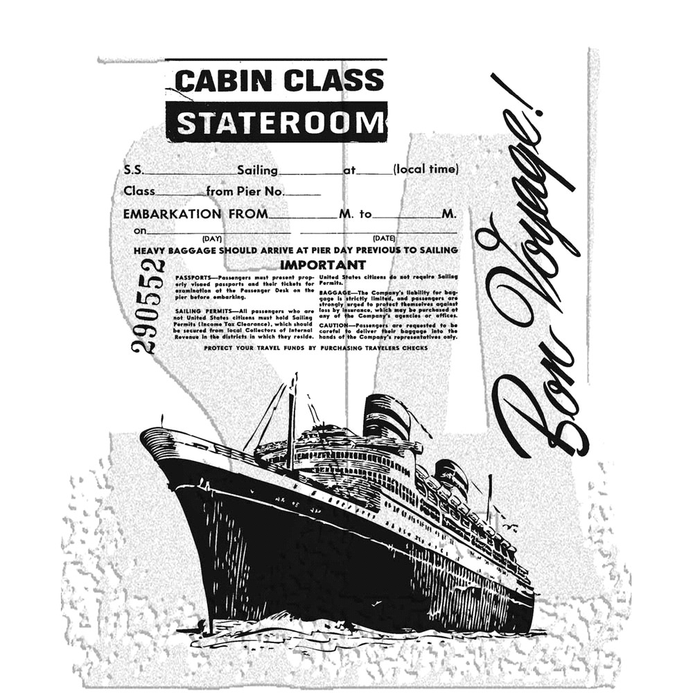 Tim Holtz Cling Rubber Stamps ARTFUL VOYAGE cms129 zoom image