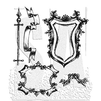 Tim Holtz Cling Rubber Stamps SKETCH cms131