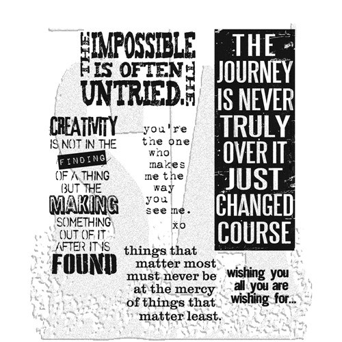 Tim Holtz Cling Rubber Stamps WORDS FOR THOUGHT cms132 Preview Image