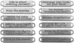 Tim Holtz Idea-ology Metal WORD BANDS TH93000 Preview Image