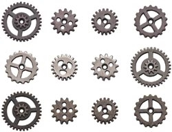 Tim Holtz Idea-ology MINI GEARS Sprockets TH93012 zoom image