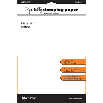Ranger Inkssentials 8.5 x 11 SPECIALTY STAMPING PAPER ISP32908