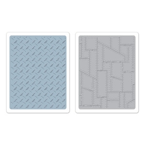 Tim Holtz Sizzix DIAMOND PLATE & RIVETED METAL Texture Fades 657848 Preview Image
