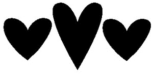 Tim Holtz Rubber Stamp HEARTS SILHOUETTE Stampers Anonymous M1-1785 Preview Image