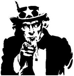 Tim Holtz Rubber Stamp UNCLE SAM SILHOUETTE Stampers Anonymous P1-1791 zoom image