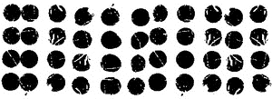 Tim Holtz Rubber Stamp BUBBLE DOTS U5-1793 * zoom image