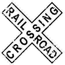 Tim Holtz Rubber Stamp RAILROAD CROSSING Stampers Anonymous H2-1799