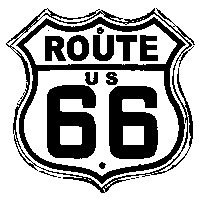 Tim Holtz Rubber Stamp ROUTE 66 H1-1804 Preview Image