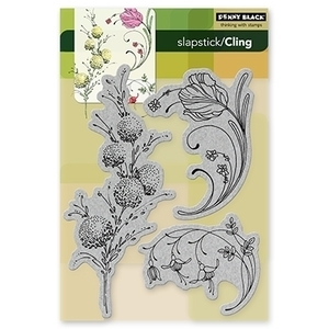 Penny Black Cling Stamps DELICATE FLORALS Rubber Unmounted 40-103* zoom image