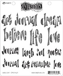 Dyan Reaveley WORD LOVE Stamp Set Dylusions Cling Unmounted Rubber*