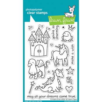 Lawn Fawn CRITTERS EVER AFTER Clear Stamps lf382