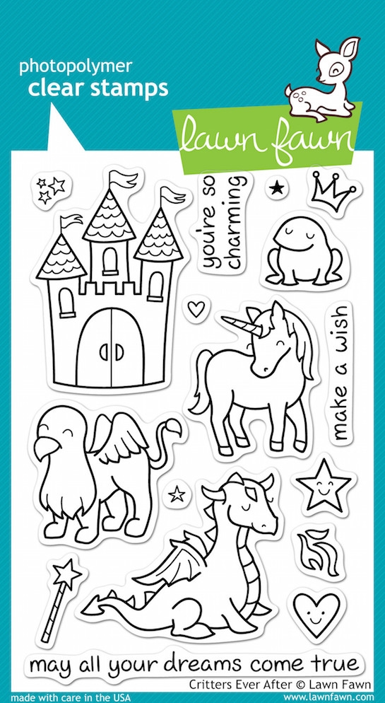 Lawn Fawn CRITTERS EVER AFTER Clear Stamps zoom image