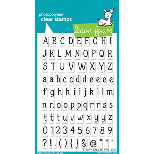 Lawn Fawn CLAIRE'S ABC'S Clear Stamps Preview Image
