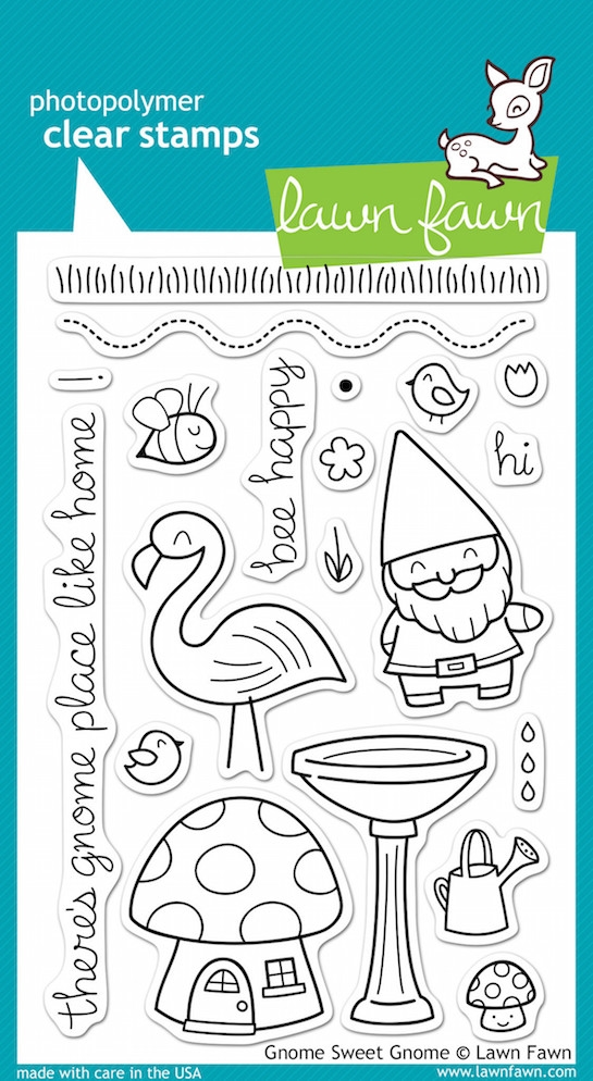 Lawn Fawn GNOME SWEET GNOME Clear Stamps zoom image