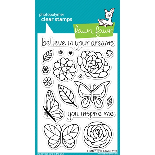 Lawn Fawn FLUTTER BY Clear Stamps* Preview Image