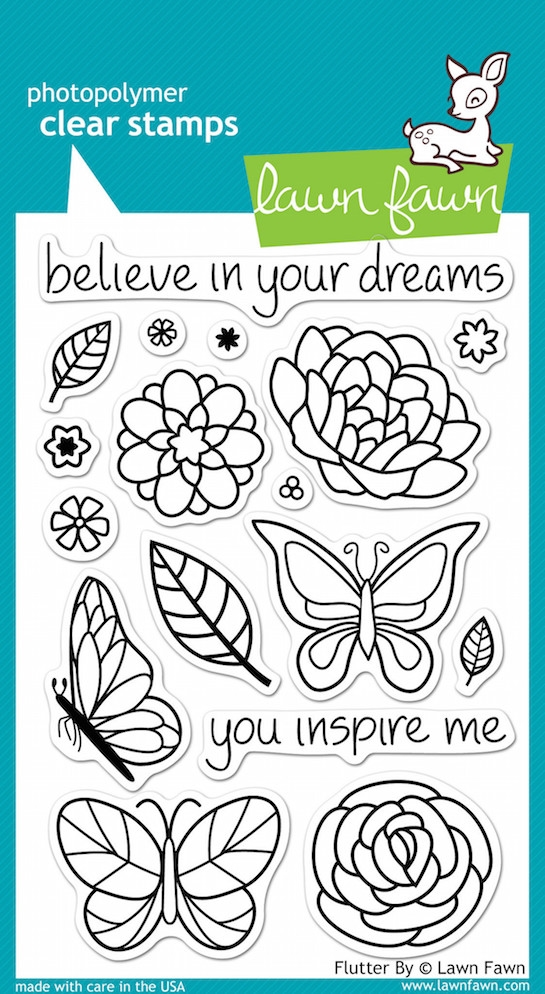 Lawn Fawn FLUTTER BY Clear Stamps* zoom image