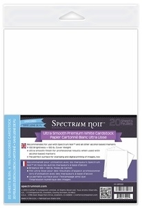 Crafter's Companion 20 PACK ULTRA SMOOTH PREMIUM WHITE CARDSTOCK CC-USPC20 zoom image