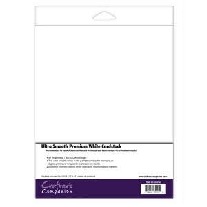 Crafter's Companion 50 PACK ULTRA SMOOTH PREMIUM WHITE CARDSTOCK cc-uspc50 Preview Image