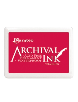 Ranger Archival Ink Pad JUMBO VERMILLION A3P30522 Preview Image