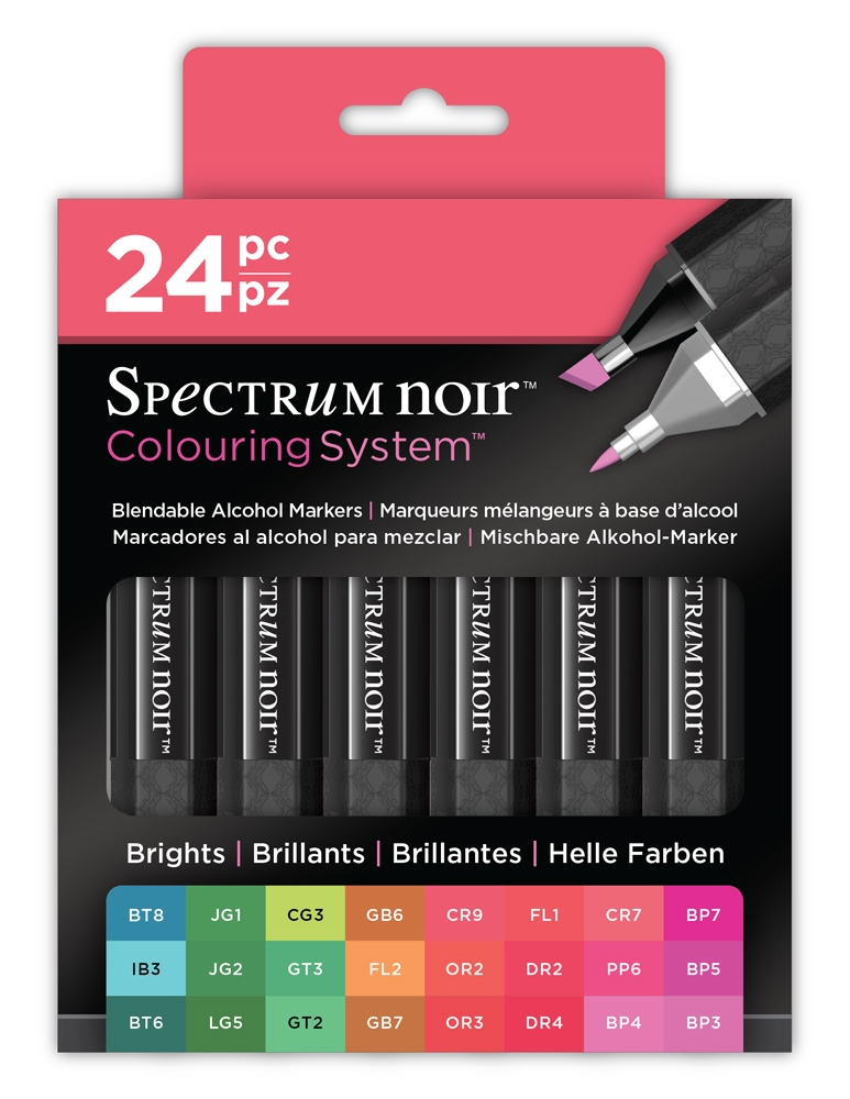 Crafter's Companion BRIGHTS 24 SET Spectrum Noir Markers SPECN-BRIGHTS24 zoom image