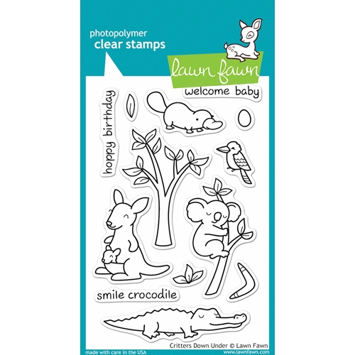Lawn Fawn CRITTERS DOWN UNDER Clear Stamps Preview Image