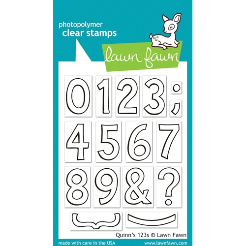 Lawn Fawn QUINN'S 123's Clear Stamps Preview Image